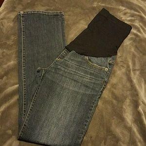 Nice dark denim maternity jeans with elastic waist